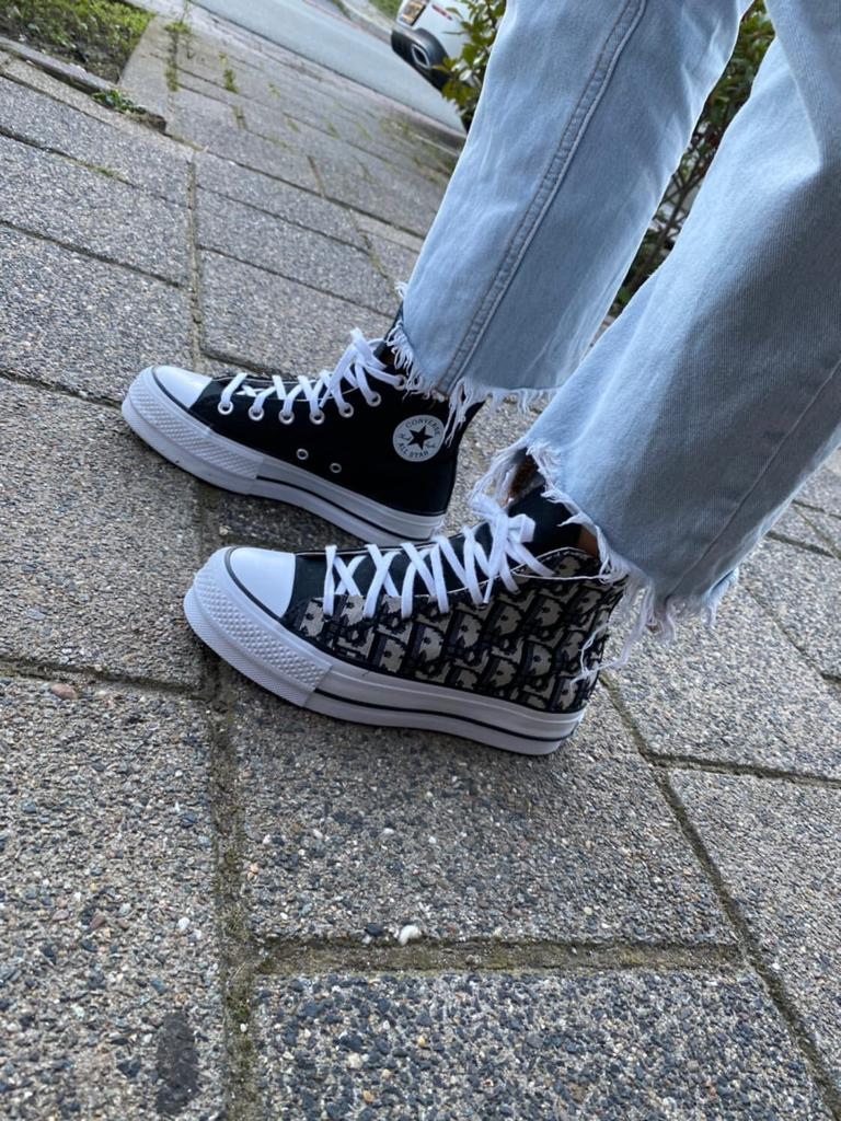 Converse All Star X Chris D blue one sided